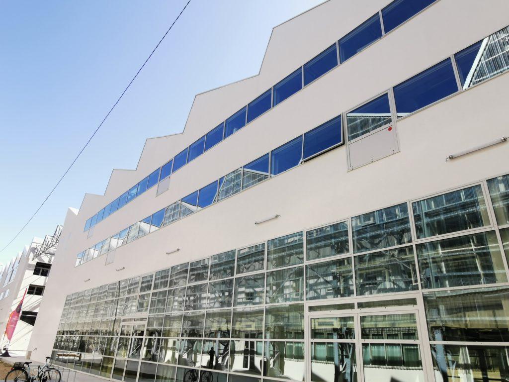 Menuiseries aluminium pour le Pôle universitaire numérique à Nantes (44) par Renouard