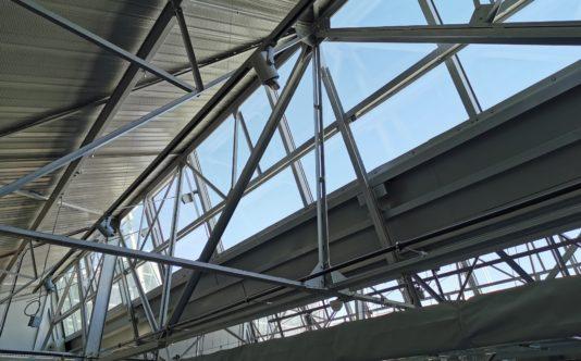 Sheds et désenfumage en aluminium