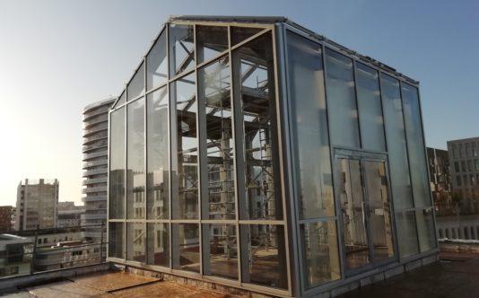 Serre aluminium pour parking Viséo du Groupe Giboire - Renouard