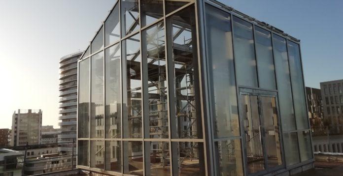 Serre aluminium pour parking Viseo du Groupe Giboire - Renouard