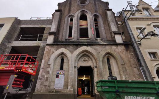 Menuiseries aluminium et acier pour la chapelle levsque Nantes - Renouard